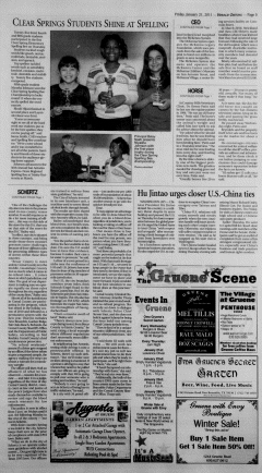 New Braunfels Herald Zeitung, January 21, 2011, Page 5