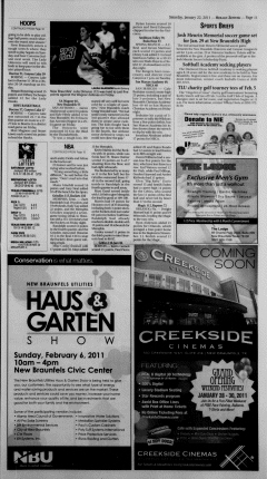 New Braunfels Herald Zeitung, January 22, 2011, Page 11