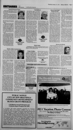 New Braunfels Herald Zeitung, January 27, 2011, Page 3
