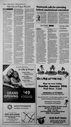 New Braunfels Herald Zeitung, January 30, 2011, Page 6
