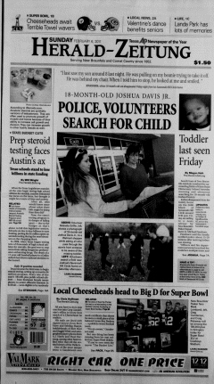 New Braunfels Herald Zeitung, February 06, 2011, Page 1
