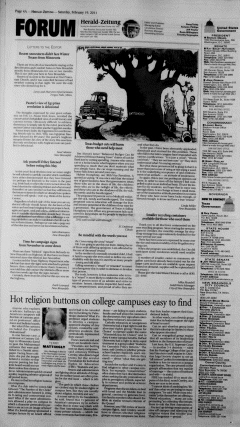New Braunfels Herald Zeitung, February 19, 2011, Page 4