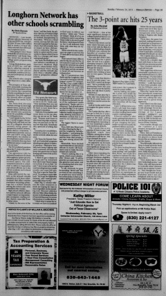 New Braunfels Herald Zeitung, February 20, 2011, Page 13