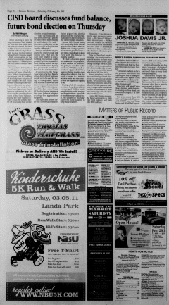 New Braunfels Herald Zeitung, February 26, 2011, Page 2