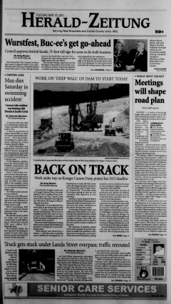 New Braunfels Herald Zeitung, May 10, 2011, Page 1