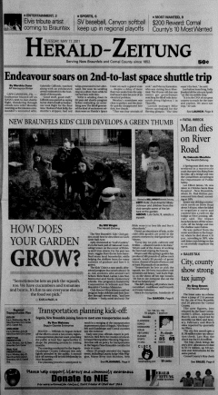 New Braunfels Herald Zeitung, May 17, 2011, Page 1