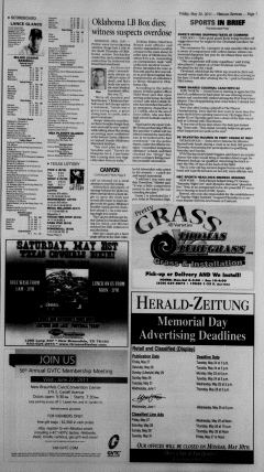 New Braunfels Herald Zeitung, May 20, 2011, Page 7