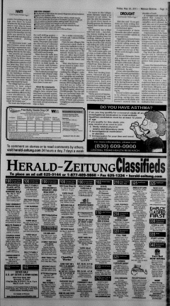 New Braunfels Herald Zeitung, May 20, 2011, Page 11