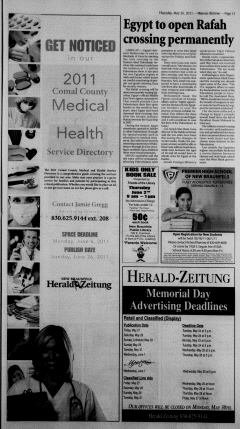 New Braunfels Herald Zeitung, May 26, 2011, Page 11