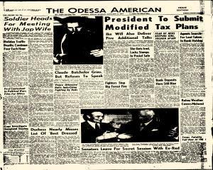 Odessa American, January 03, 1954, Page 1