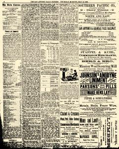 San Antonio Daily Express, May 27, 1886, Page 6