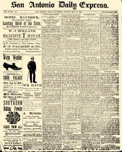 San Antonio Daily Express, May 27, 1886, Page 1