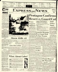 San Antonio Express And News, October 14, 1962, Page 1