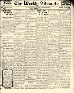 Advocate, March 15, 1913, Page 1
