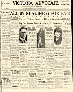 Advocate, October 07, 1929, Page 1