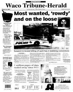 Waco Tribune Herald, March 14, 2007, Page 1