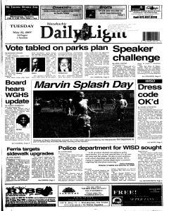 Waxahachie Daily Light, May 22, 2007, Page 1