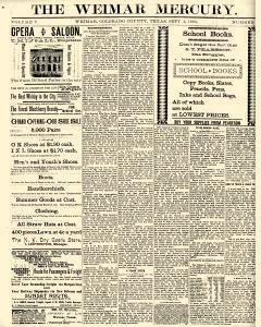 Weimar Mercury, September 02, 1893, Page 1