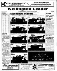 Wellington Leader, March 06, 2008, Page 1
