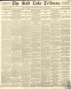 Salt Lake Tribune, March 12, 1890, Page 1