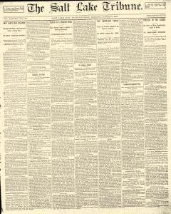Salt Lake Tribune, March 22, 1890, Page 1