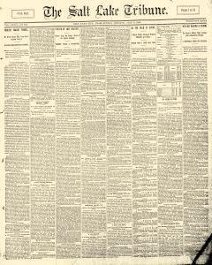 Salt Lake Tribune, July 06, 1890, Page 1