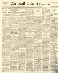 Salt Lake Tribune, November 27, 1890, Page 1