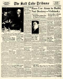 Salt Lake Tribune, November 11, 1949, Page 1