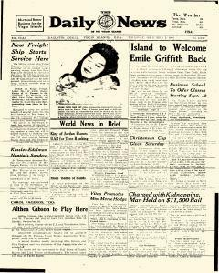 Saint Thomas Daily News of  Virgin Islands, September 01, 1960, Page 1
