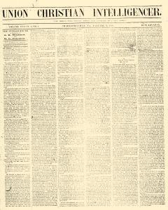 Charlottesville Union Christian Intelligencer, January 17, 1859, Page 1