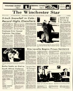Winchester Star, April 20, 1985, Page 1