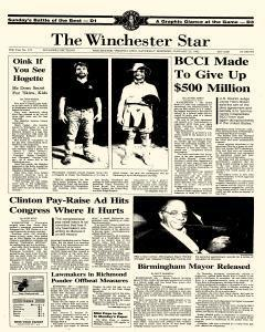 Winchester Star, January 25, 1992, Page 1