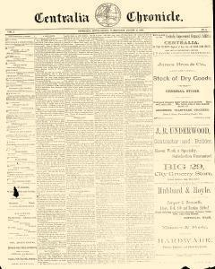 Centralia Chronicle, August 15, 1889, Page 1