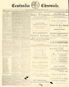 Centralia Chronicle, September 12, 1889, Page 1