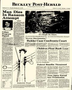 Beckley Post Herald, October 13, 1977, Page 1