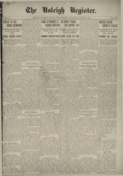 Raleigh Register, August 08, 1912, Page 2