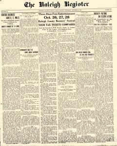Raleigh Register, October 22, 1914, Page 1