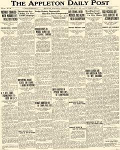 Appleton Daily Post, January 07, 1920, Page 1