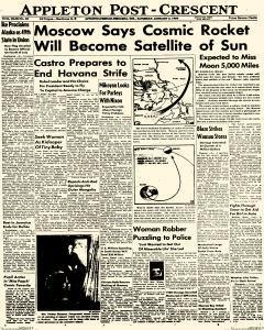 Appleton Post Crescent, January 03, 1959, Page 1