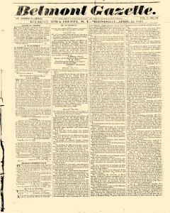 Belmont Gazette, April 12, 1837, Page 1