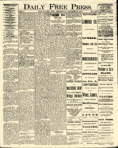 Eau Claire Daily Free Press, October 30, 1873, Page 1