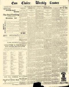 Eau Claire Weekly Leader, December 02, 1889, Page 1