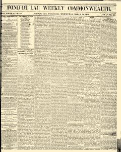 Fond Du Lac Weekly Commonwealth, March 30, 1859, Page 3