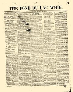 Fond Du Lac Whig, December 24, 1846, Page 1