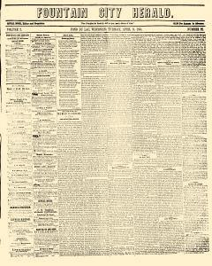 Fountain City Herald, April 11, 1854, Page 1