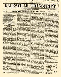 Galesville Transcript, November 09, 1860, Page 1