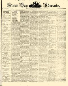 Green Bay Advocate, August 08, 1850, Page 1
