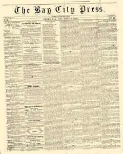 Green Bay Bay City Press, September 08, 1860, Page 1