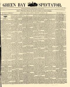 Green Bay Spectator, August 17, 1852, Page 1