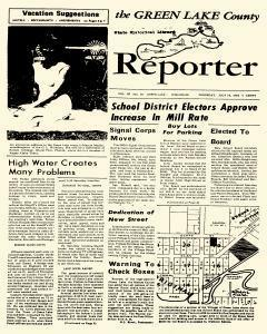 Green Lake County Reporter, July 28, 1960, Page 1